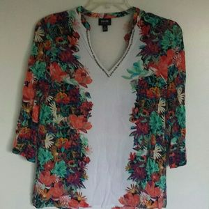 Nicole Miller blouse medium 100% Rayon